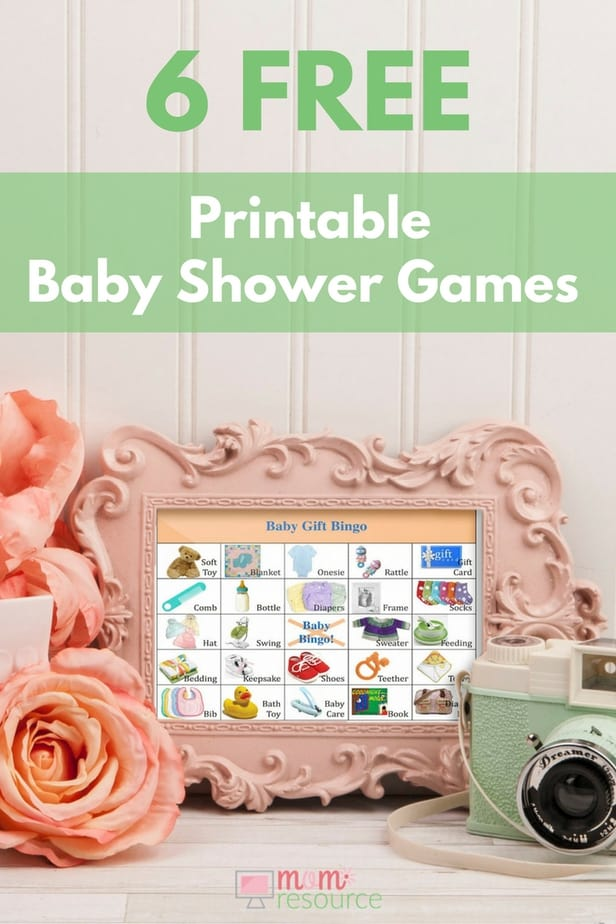 6 Free printable baby shower games. Whether you need last minute baby shower games or are planning ahead, these printable baby shower games are perfect. All available for immediate download & easy to print & use - even for large baby showers! These FUN baby shower games will keep your party moving - great for ice breakers or just a good laugh. www.momresource.com/free-printable-baby-shower-games