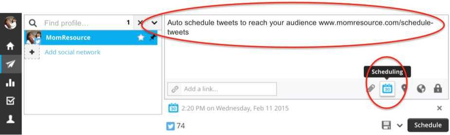 schedule tweets hootsuite