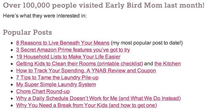 early bird mom blog posts
