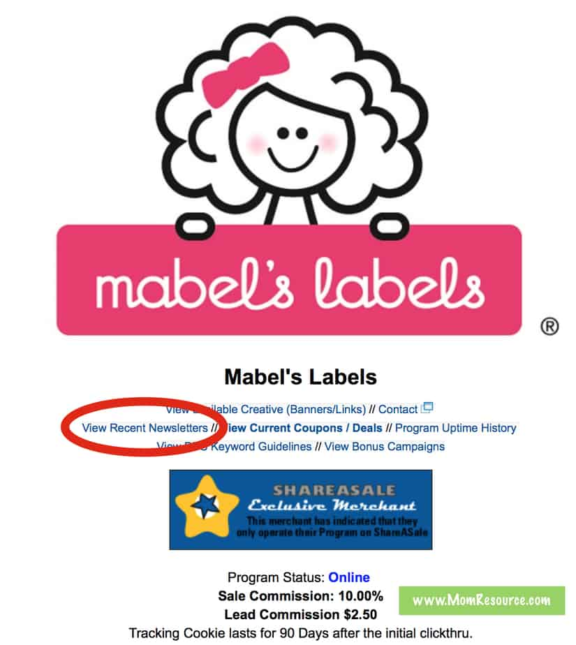 mabels labels newsletter