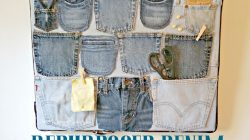 Old Jeans Repurposed Into Denim Organizer