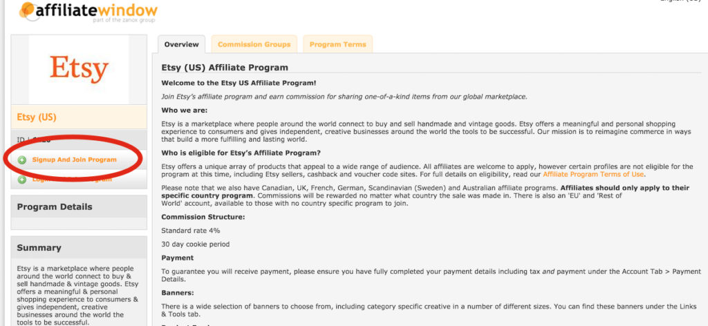 etsy affiliate program us