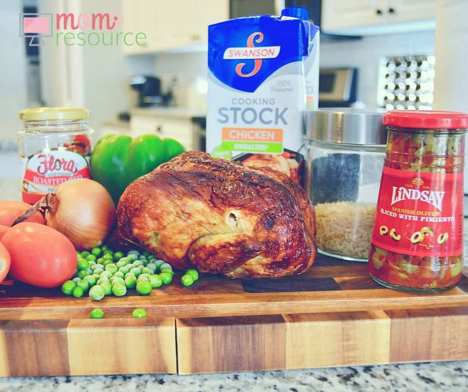 Arroz con pollo: this EASY 1-pot meal does not disappoint! Keep arroz con pollo in mind whenever you have leftover chicken in your fridge! Arroz con pollo (rice with chicken) is a classic latin dish with MANY versions (Puerto Rican, Mexican, Cuban, Peruvian, Spanish, Columbian, Dominican, etc). www.momresource.com/arroz-con-pollo-recipe