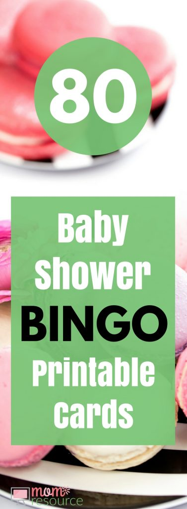Baby Shower Bingo Printable Cards - 80 baby shower bingo printable cards and a few free printable cards too. These baby shower bingo printable cards are perfect for baby boys or baby girls. Mom to be will love these cards & you can even play while mom to be opens gifts! This fun read to print & play printable was created by me - a MOM! Get 80 baby shower printable game cards HERE.