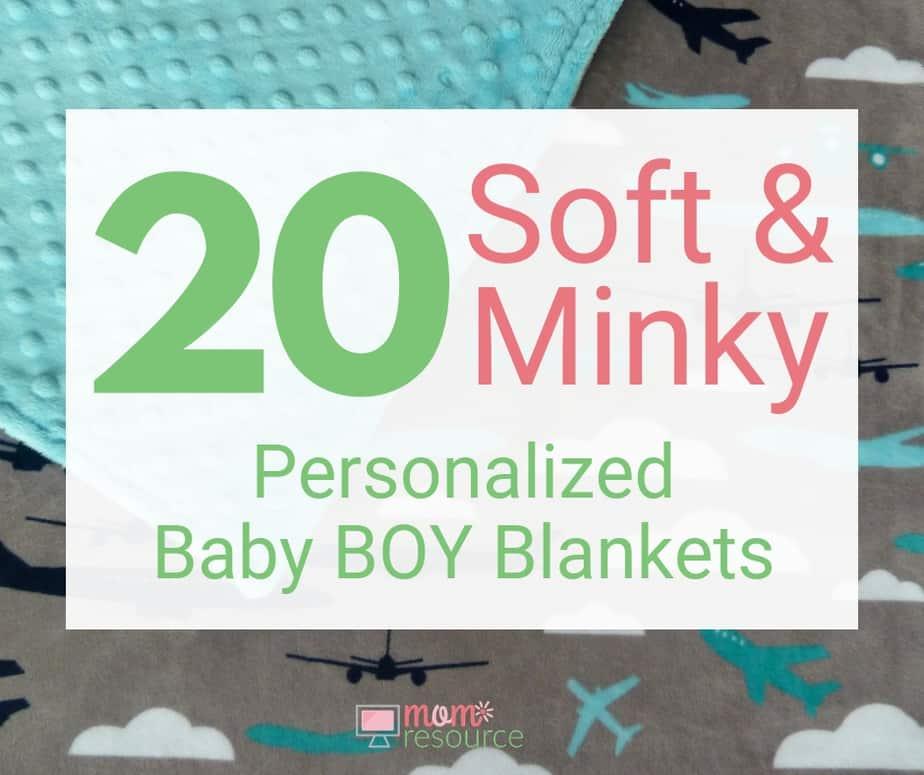 personalized baby boy blankets minky