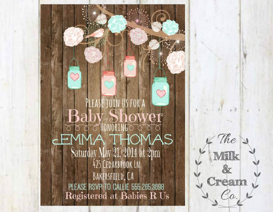 25 rustic baby shower ideas mom resource - Baby shower invitations and decorations ...