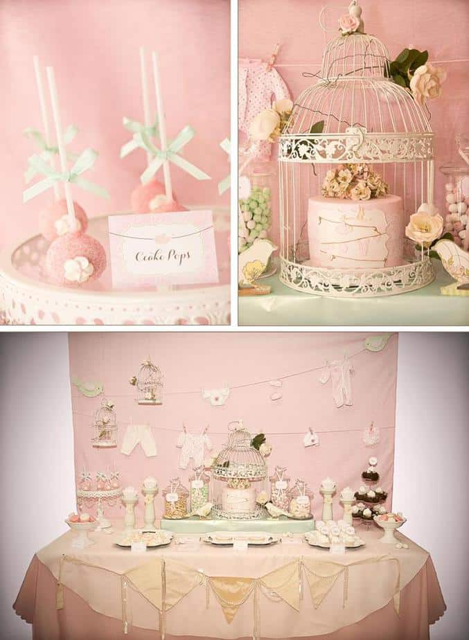 Vintage baby shower ideas for baby girls boys or gender for Baby shower decoration themes for girls