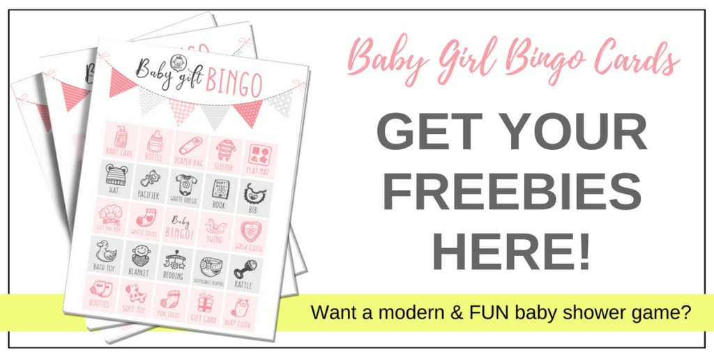 girl baby shower game bingo cards