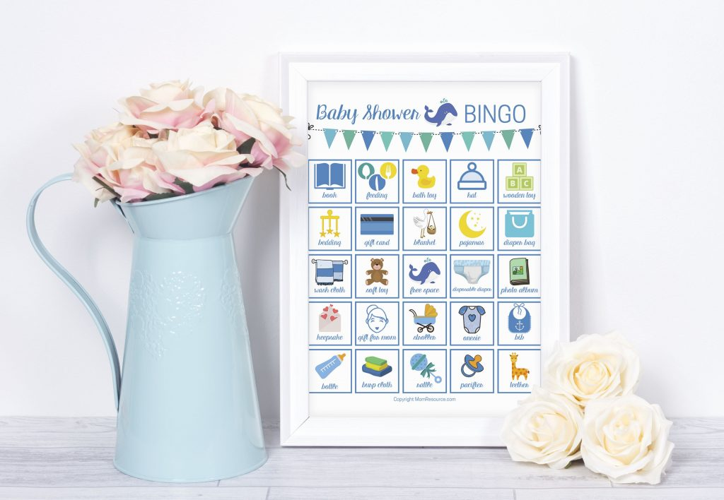 whale theme baby shower games