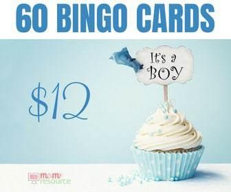 baby bingo shower game