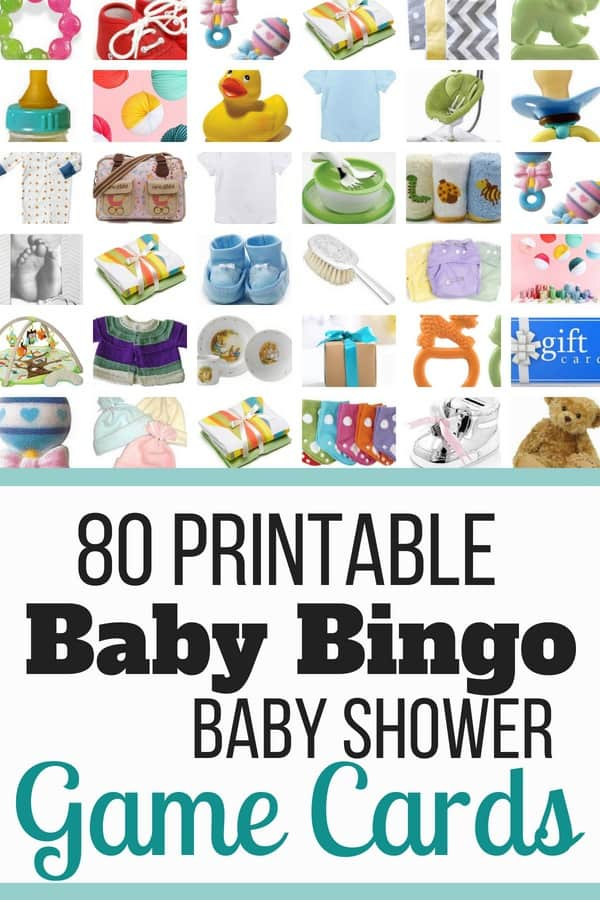 Baby shower bingo cards - 80 unique baby shower bingo cards! Looking for a fun baby shower game for family & kids? Baby shower bingo is the perfect fun game for your baby shower. See all baby shower bingo cards here!