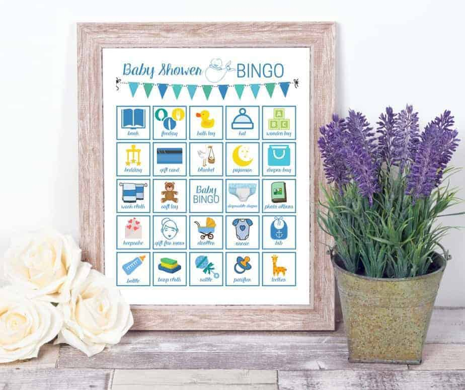 baby shower bingo printable games for boys
