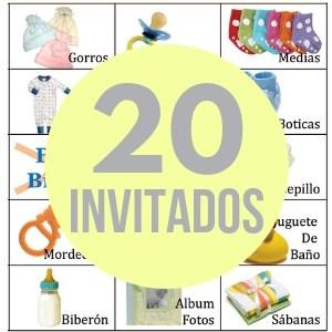 20 cartones de bingo