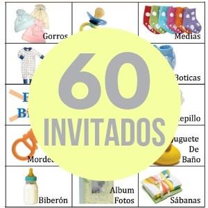60 cartones de bingo
