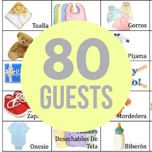 80 baby bingo cards