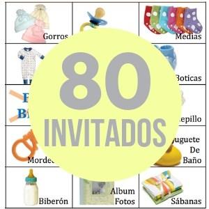 80 cartones de bingo