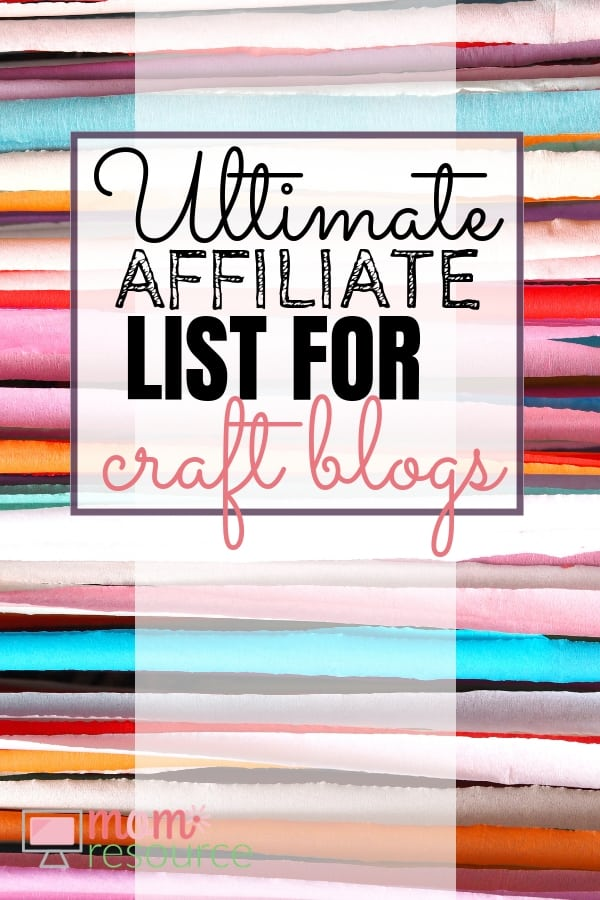 Need affiliate programs for your craft blog to make money? This is the ultimate list of affiliate programs for craft bloggers. You will find the perfect products for you to work at home and make money.