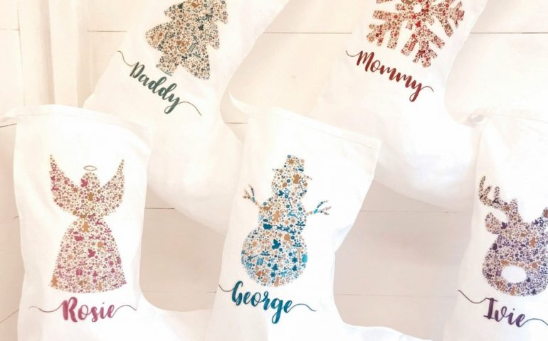 homemade personalized christmas stockings