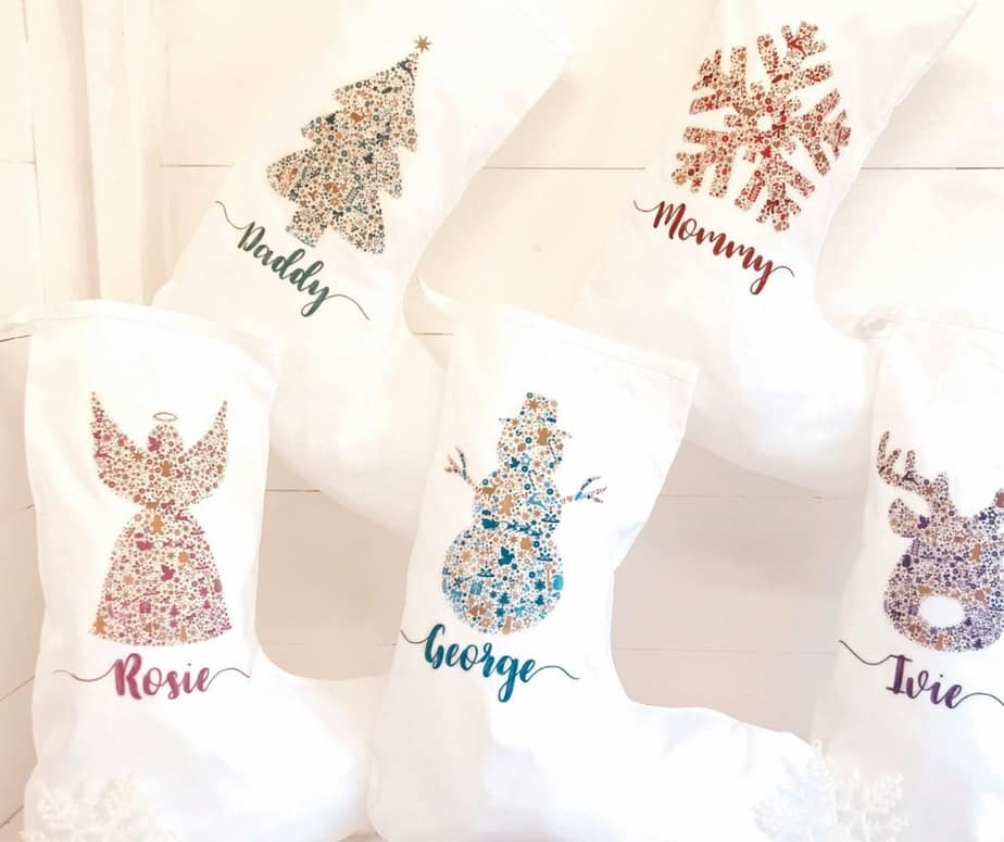 28 fun personalized christmas stockings ideas etsy homemade