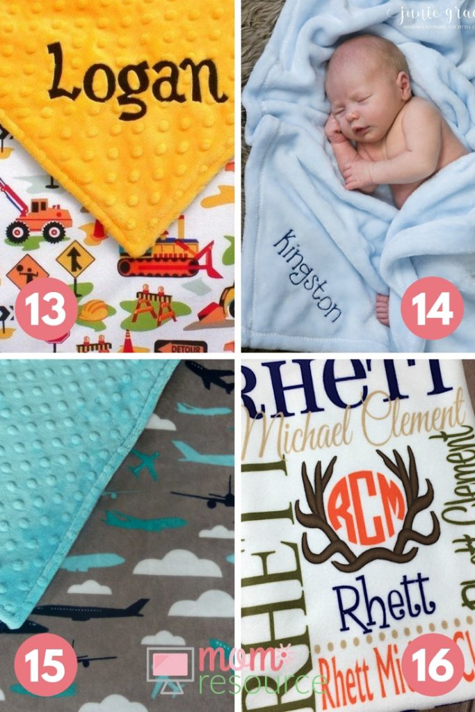personalized baby boy blanket