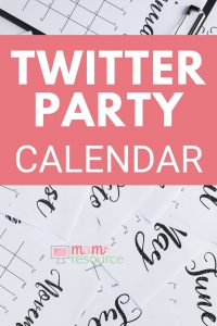 Twitter Party - You need this Twitter Party Calendar to keep up with social media. More Twitter Party tips & ideas too. Finally a Twitter Party calendar that is updated & fun.
