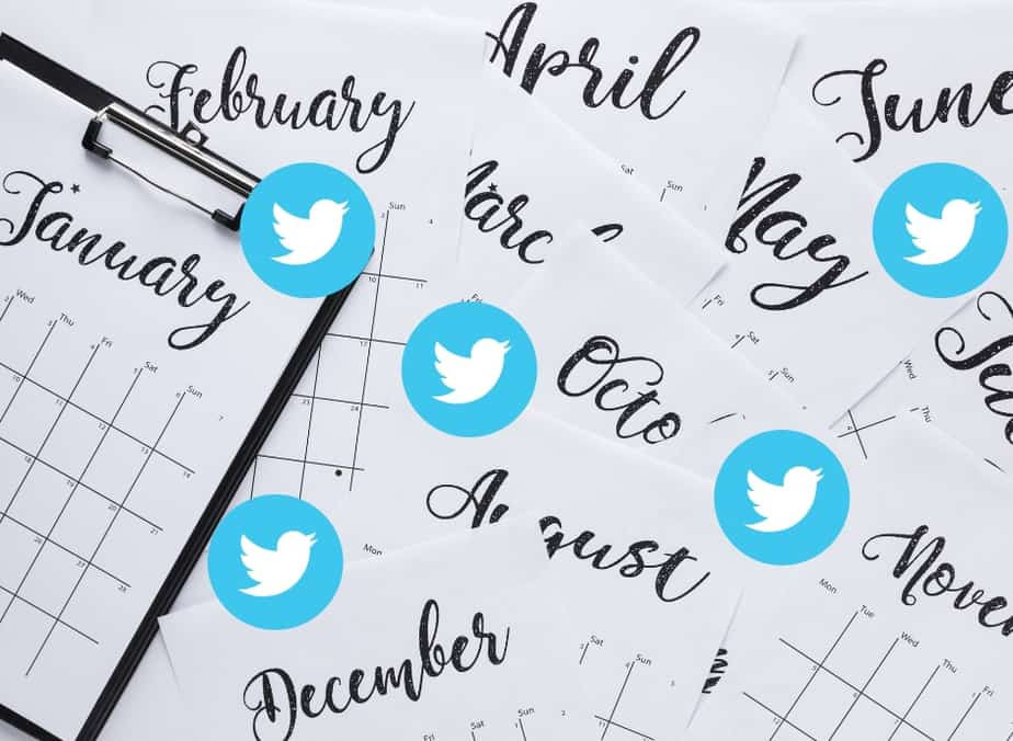 twitter party calendar ideas