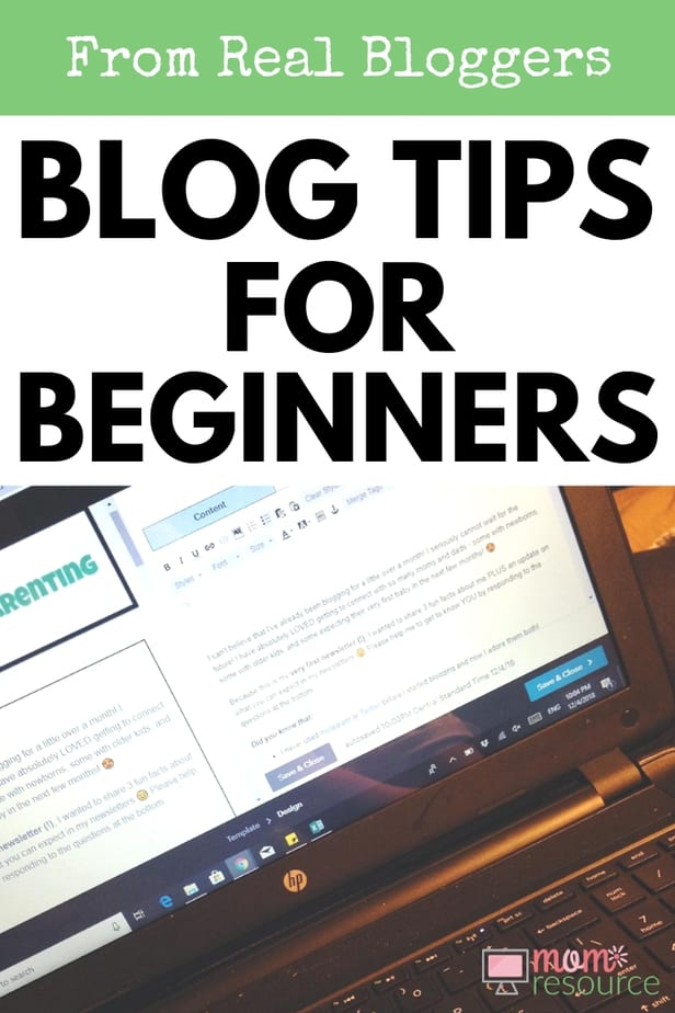 Blog tips from real bloggers! Danielle shares newborn tips for expecting parents on her blog. Her blog tips for beginners include the ideas and tricks she uses for life with a newborn in the family. Find out her successful blog tips for beginners & see the tools & courses she recommends for bloggers. #blogtips #blog #momblog #parenting #parentingblog