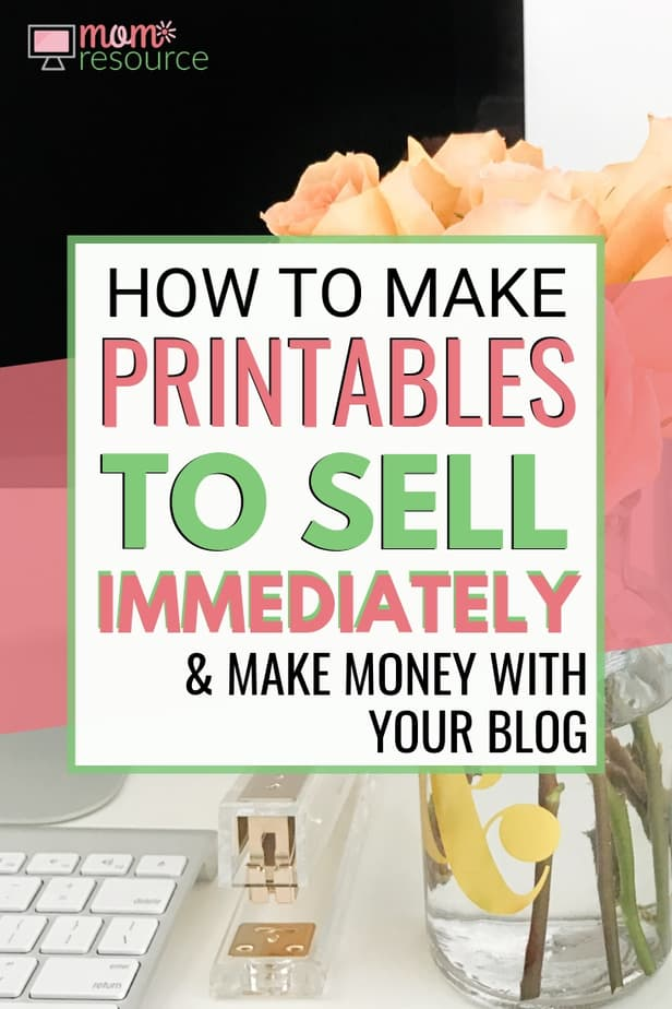 Wondering how to make printables to sell? It's easy to start making printables & selling them right on your blog. No email list needed! Here's a video tutorial showing you how I earn money selling printable products on my blog along with the best tips to start selling printables quickly.