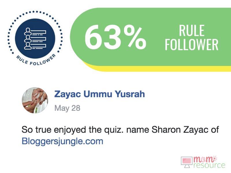 business quiz rule follower describe