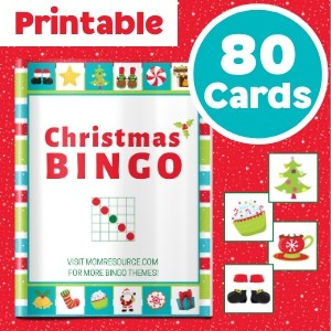 christmas bingo 80 cards
