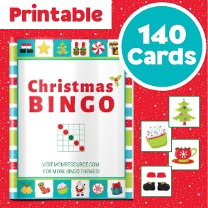 christmas bingo cards 140