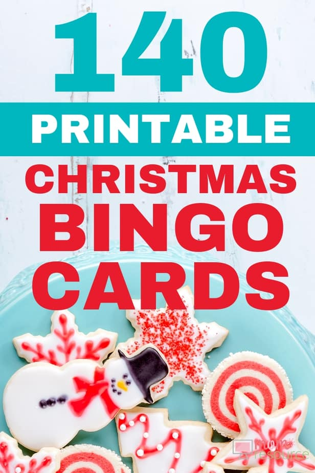 Fun & convenient printable Christmas game for large groups! With words and pictures and instructions, these bingo cards are the perfect game for any Christmas party! Ready to print & play!