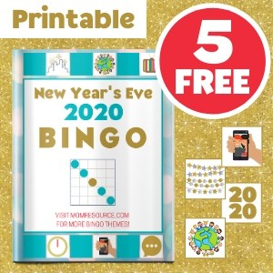 New year bingo free printable