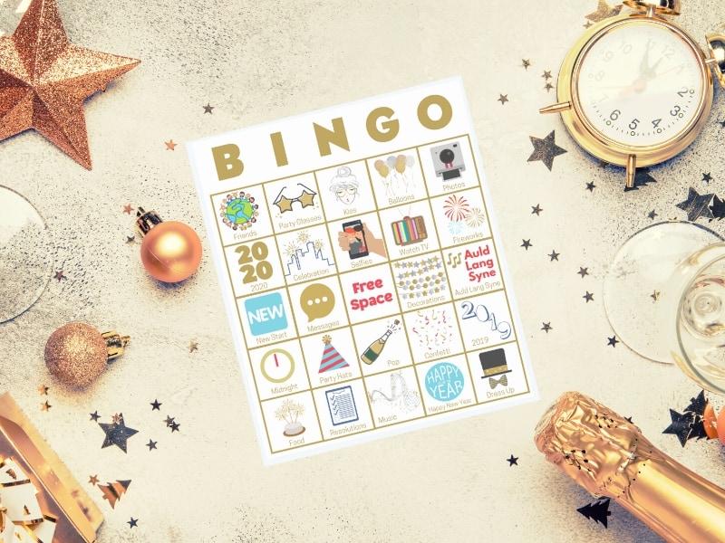 new years bingo printable