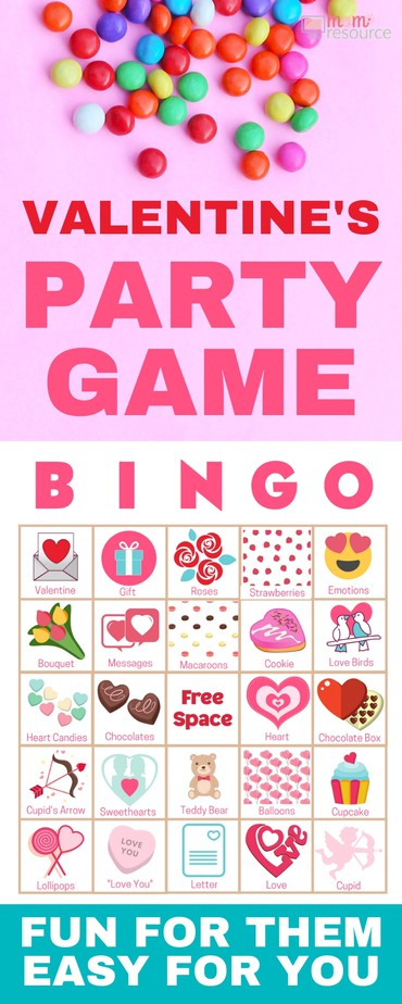 Valentine's Day bingo cards perfect for any group! Get 40 printable bingo cards now - a perfect holiday theme for a Valentine's Day party with kids or Valentine's Day party for adults or office parties. With words and pictures and instructions for how to play, these bingo cards you'll find the perfect games & ideas for your Valentine's Day party!