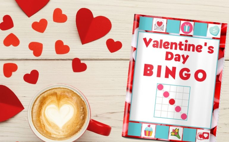 valentines day party game bingo