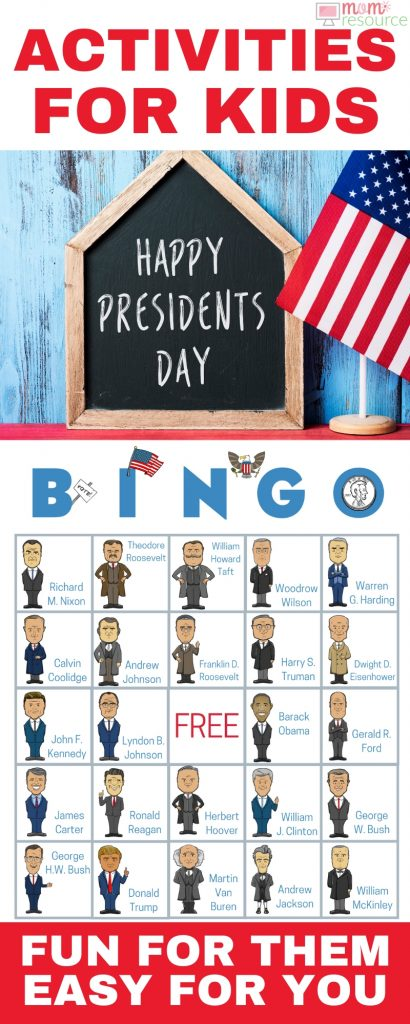 Perfect printable educational game! With words & pictures and instructions, these bingo cards are a perfect Presidents of the United States activity!