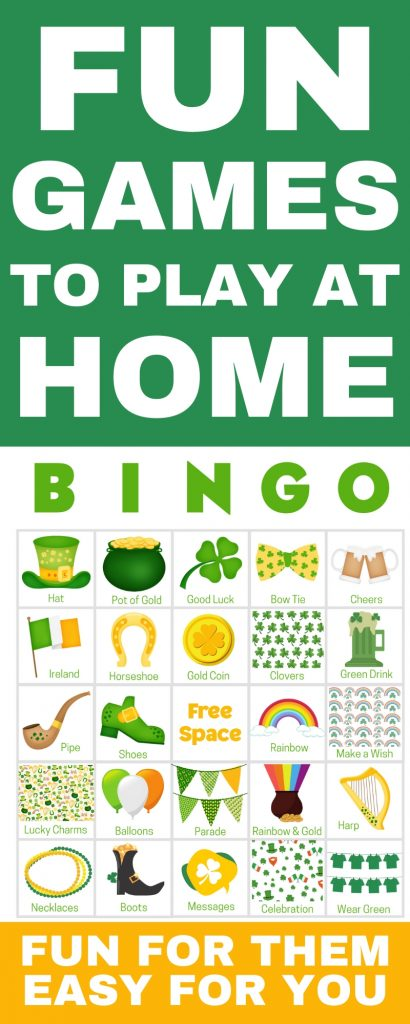 Fun Games To play At Home - perfect for for kids with friends! Get 100 printable game cards now - a perfect fun game to play at home. With words and pictures and instructions for how to play, these bingo cards you'll find the perfect games & ideas for your friends!
