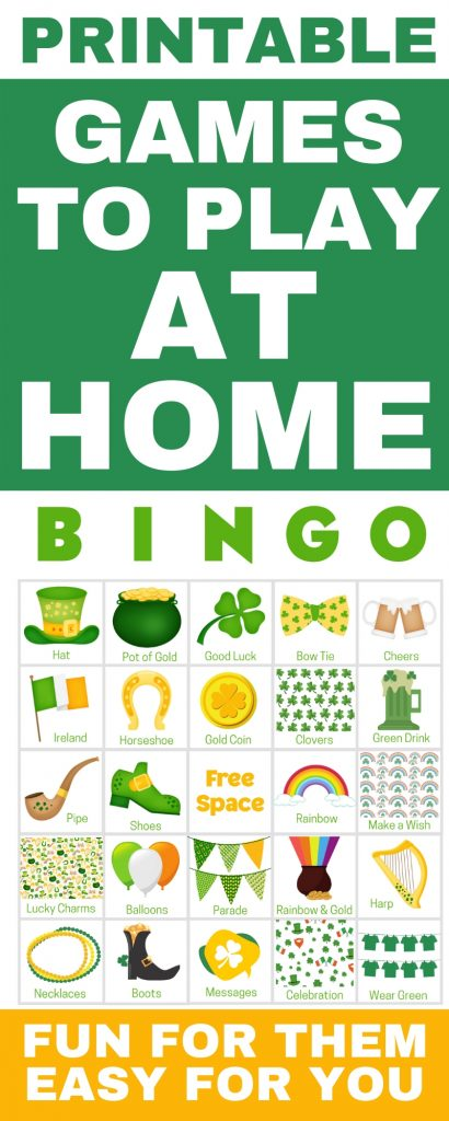 Games To play At Home - perfect for for kids with friends! Get 100 printable game cards now - a perfect fun game to play at home. With words and pictures and instructions for how to play, these bingo cards you'll find the perfect games & ideas for your friends!