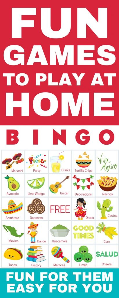 fun games to play at home cinco de mayo