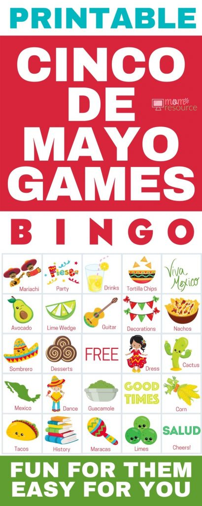 printable cinco de mayo games