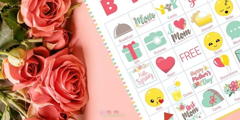 mothers day bingo cards