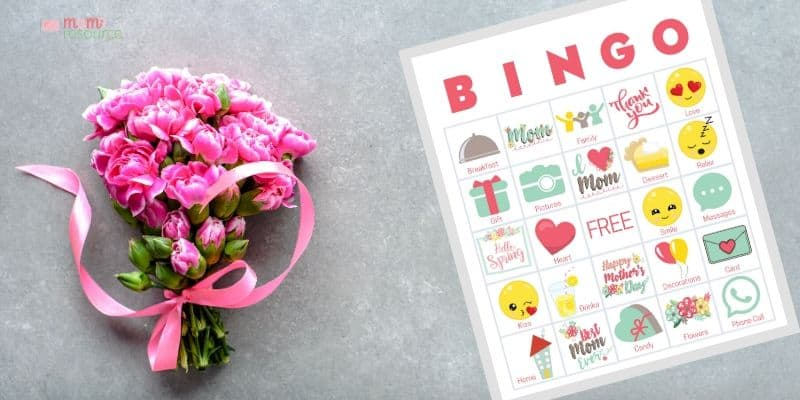 mothers day bingo card printable