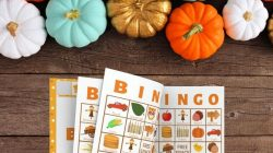 Fall Bingo Printable Cards For Large Groups