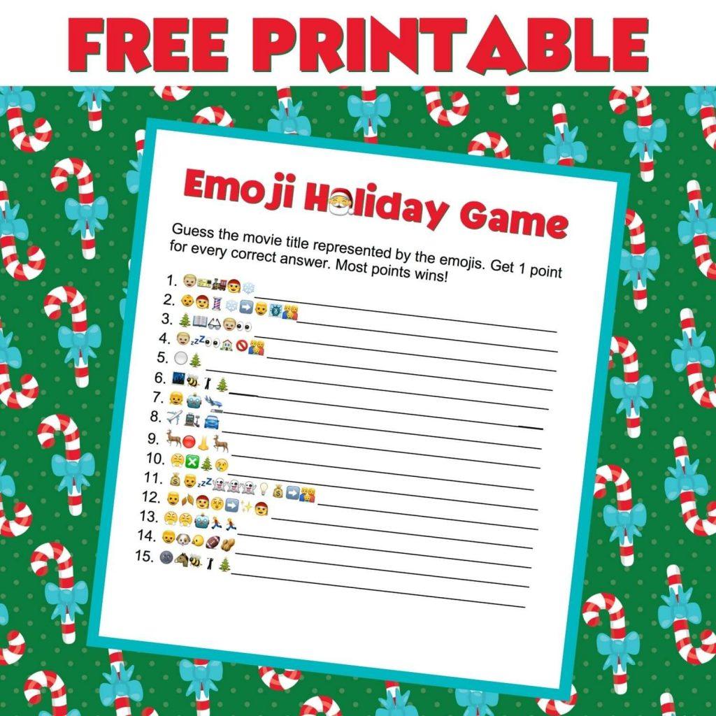 free printable emoji game