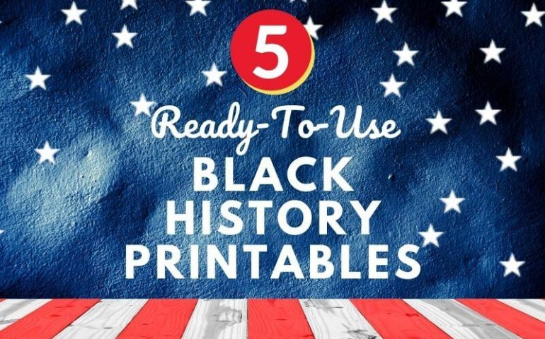Best Black History Month Printable Activities