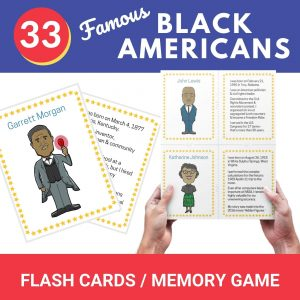 black history month flash cards