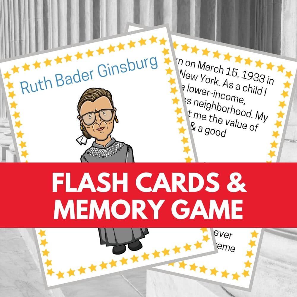 ruth bader ginsburg flash cards
