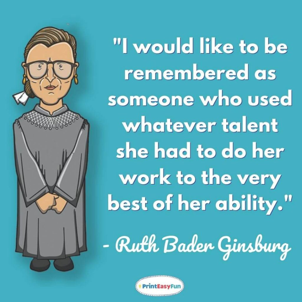 ruth bader ginsburg quotes on motherhood